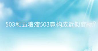 503和五粮液503竟构成近似商标?