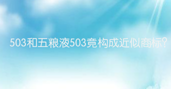 503和五糧液503竟構成近似商標?