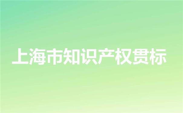 上海市知识产权贯标